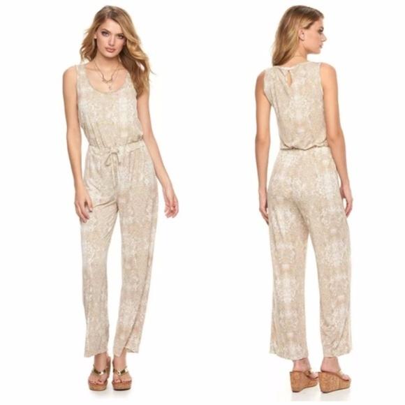 2e76361f6bb6 Juicy Couture Pants - Juicy Couture Snakeskin Print Jumpsuit sz Lg